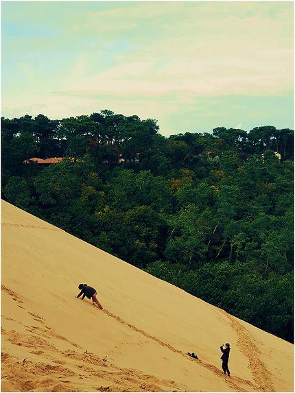 Une escalade à la Dune de Pilat