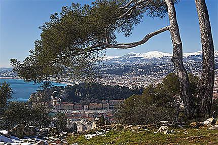 La colline du Mont Boron à Nice