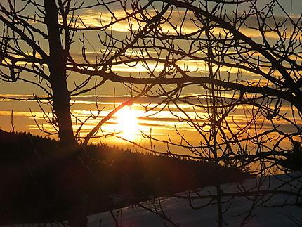 Coucher de Soleil à St-Donat.