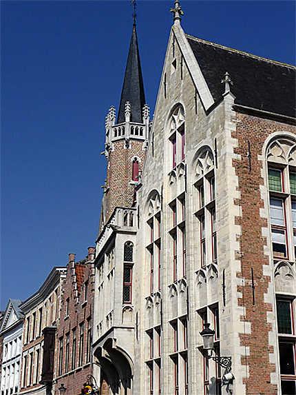 Façades, Wollestraat, Bruges, Belgique