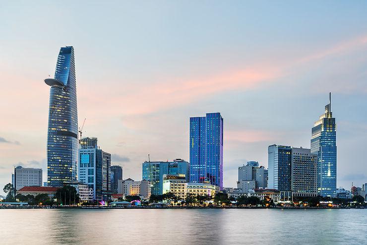 Les tours du Saigon moderne