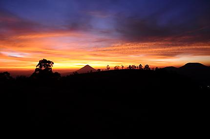 Sun rise near Wawo lake, Bajawa