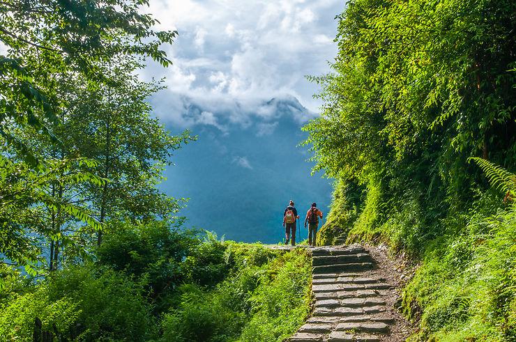 Retour à Pokhara après 6 jours de trek, Népal
