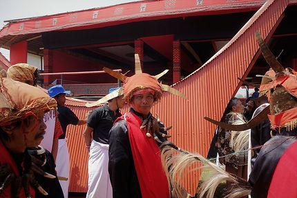 Fête de funérailles à Barana, Indonésie
