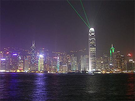 Light Show sur Hong Kong