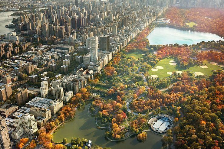 Central Park en automne, New York, USA
