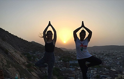 Levé de soleil sur Jaipur