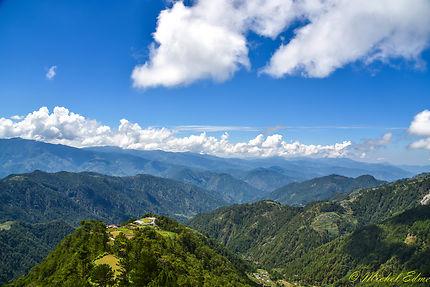 Mountain trail sur la route de Banaue