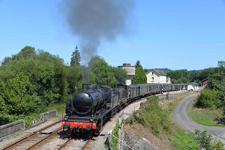 Train à vapeur en Limousin  (Haute-Vienne)