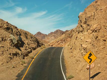 Bumpy road in Death Valley