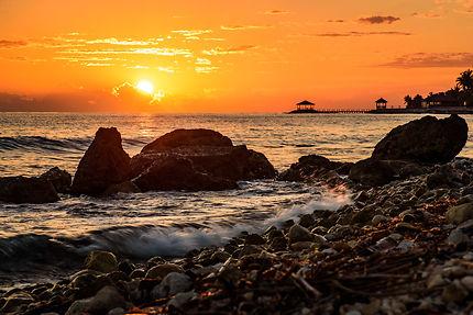 Lever sur la mer des Caraïbes à Montego Bay