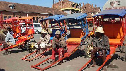 Pousse Pousse à Antsirabe