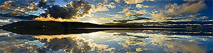 Coucher de soleil en Tasmanie