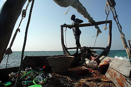 Boutre au large de Zanzibar