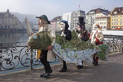 Scène du carnaval de Lucerne
