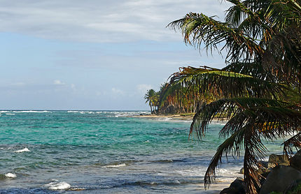 Vue sur la côte de Big Corn island