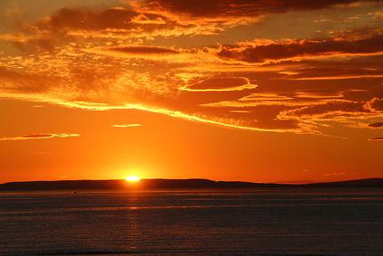 Coucher de soleil_Baie d'Aigues Mortes