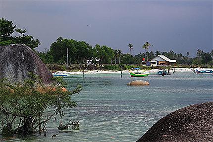 Plage de Tanjung Tinggi à Belitung island