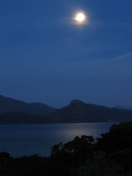 Clair de lune à Moetapu Bay