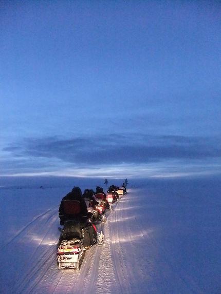Randonnée en moto-neige