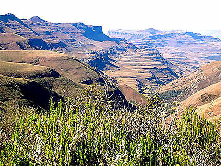 Une partie du massif du Drakensberg