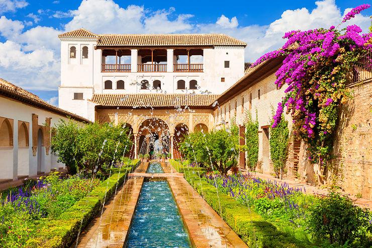 jardins de lalhambra grenade andalousie - Jardin De L Alhambra