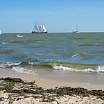 Petite plage à Marken
