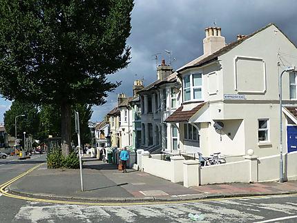 Rue calme à Brighton
