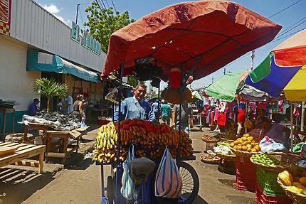 L'animation près du marché