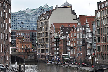 Façade des maisons vues du Holzbrücke
