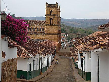 Vue de Barichara avec la Catedral