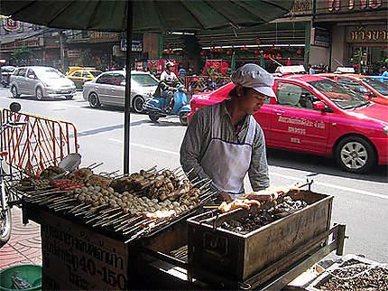 Vendeur de rue à Chinatown