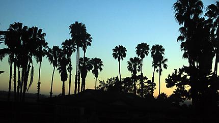 Santa Barbara sunset bleu