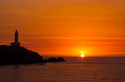 Coucher de soleil au Cap Caxine