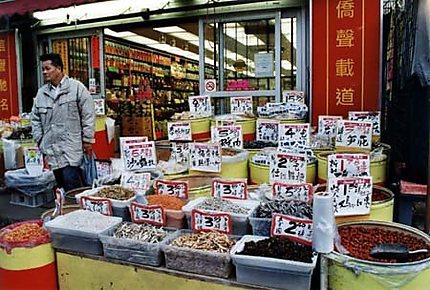 Devanture de boutique à Chinatown
