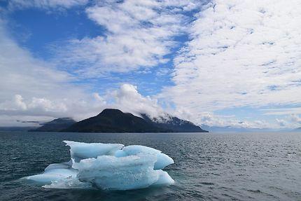 Iceberg dans la baie de Prince William Sound