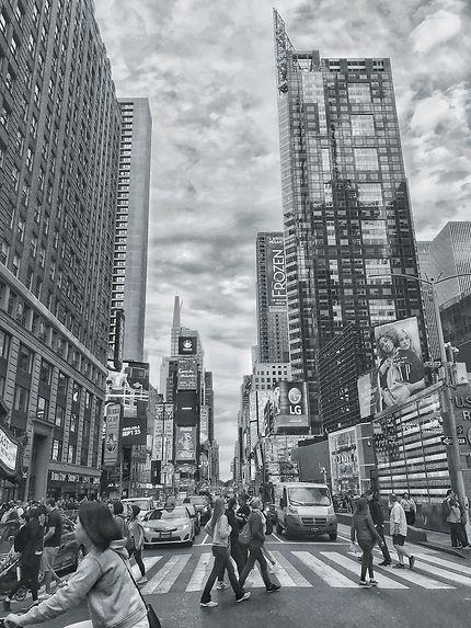 Times square en noir et blanc