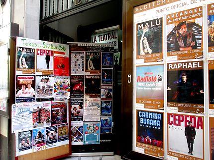 Spectacles proposés au théâtre dans Séville