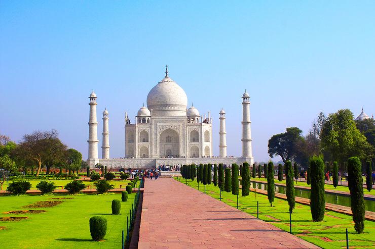 Jardins du Taj Mahal - Agra, Inde