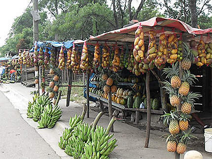 Vendeur de fruits au bord de la route