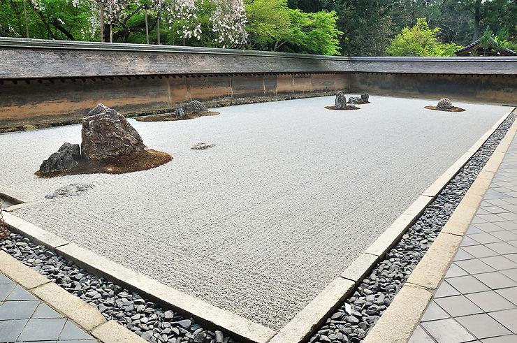 Jardin zen du temple Ryoan-ji - Kyoto, Japon