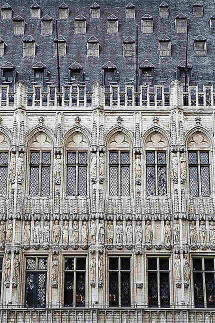 Bruxelles - Grand-Place - Hôtel de Ville - Façade et toit
