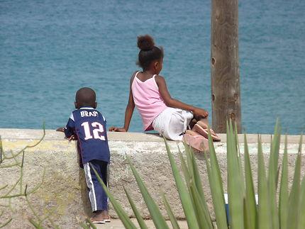 Enfants de dos, Cap-Vert