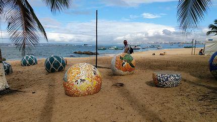 Sur la plage d'Itapua