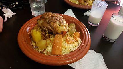 Couscous en famille à Casablanca