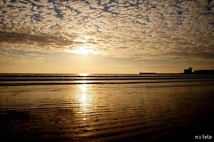 Coucher de soleil sur la grande plage