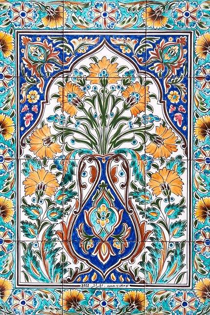 Alger - Palais des Raïs - Le bouquet, faïence
