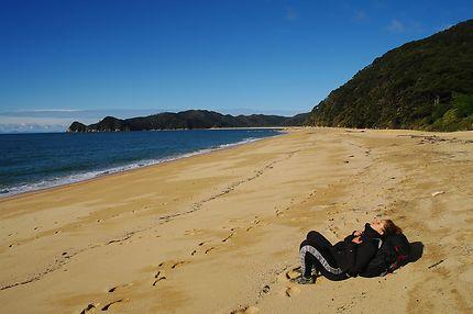 Le repos du randonneur... Abel Tasman, NZ