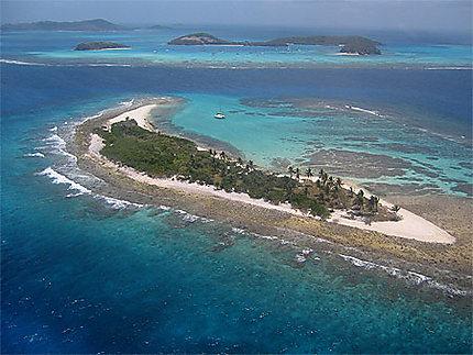 Tobago Cayes vue du ciel