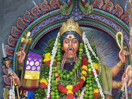 Le temple Sri Veeramakaliamman dédié à Kali